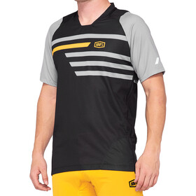 100% Celium Enduro/Trail Jersey Heren, black/mustard